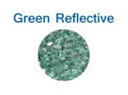 Green Reflective Glass Fire Chips